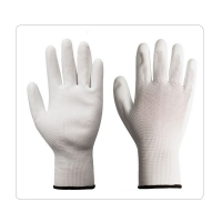 Buy cheap Farming And Precision Machinery 13 Gauge White Polyester Liner PU Gloves from wholesalers