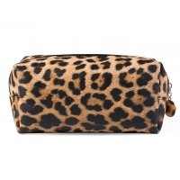 Buy cheap Portable Women Leopard PU Leather Travel Makeup Bag from wholesalers
