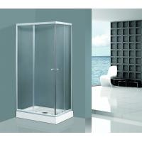 Buy cheap Sliding Clear Glass Shower Enclosures in Chrome Aluminum Rectangle Tempered product