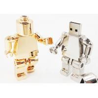 Buy cheap Unique Robot Style Metal USB Flash Drive Gold / Silver With Full Capacity from wholesalers