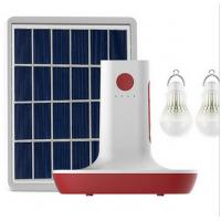 Buy cheap MP3 Radio 3 LED Bulbs Light Solar Power Panel Generator Kit USB Home Charger System from wholesalers