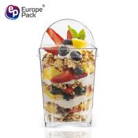 Buy cheap Europe-Pack hot sale food grade square dessert cup with PET lid from wholesalers