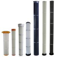 Buy cheap High Efficiency Industrial Dust Filter With PU / Rubber Top End Cap Long Life from wholesalers
