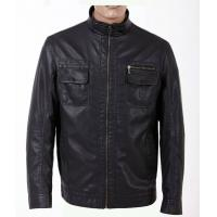 Buy cheap Size 52, Classic and Black Charm Men Lightweight PU Leather Motorcycle Jackets from wholesalers