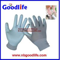 Buy cheap 13G Grey Nylon with light grey nitrile coating glove from wholesalers