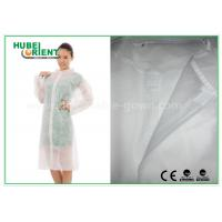 Buy cheap Economical SMS Nonwoven Disposable Lab Coats with Knitted Collar and Velcro from wholesalers