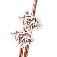 Buy cheap Team Bride Wedding Rose Gold Biodegradable Paper Straws from wholesalers