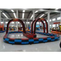 Buy cheap Outdoor Games Inflatable Race Track , Inflatable Air Tumble Track / Go Kart Track from wholesalers