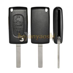 Buy cheap PSA VA7T / VA2 3 Buttons Flip Key Case , Middle Trunk Folding Auto Car Key Shell product