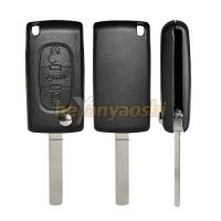 Buy cheap PSA VA7T / VA2 3 Buttons Flip Key Case , Middle Trunk Folding Auto Car Key Shell from wholesalers