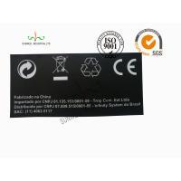 Back Ground Custom Logo Print Sticker Labels Synthetic Paper Black Color