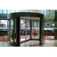 Buy cheap Aluminum alloy frame Tempered Glass Arc Automatic Door with show case from wholesalers