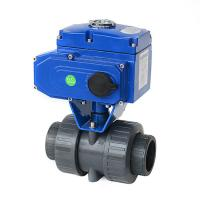 Buy cheap Motorized Actuated True Union PVC Double Union Electric Plastic Ball Valve from wholesalers