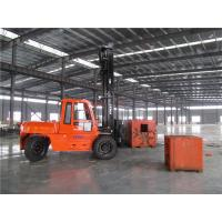 Buy cheap 7m Triplex Mast Big Container Forklift Truck , 10 Tonne Forklift Hire / Rental Available from wholesalers