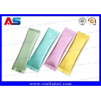 Buy cheap Small Mylar Foil Mini Pouches 8*12cm Green Bags Custom Printing For Pharmaceutical Capsule from wholesalers