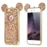 Buy cheap Bling Paillettes Soft TPU Case Mickey Ear Protective Cover For iPhone 6 6s Plus from wholesalers