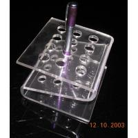 Buy cheap 4mm Transparent z-Shape Acrylic Stationery Holder Rack For 10pcs Pens product