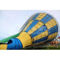 Buy cheap Custom Outside Fiberglass Water Slides for adults , 14.6m Platform Height in Big water park product
