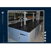 Buy cheap Black Worktop Computer Lab Furniture Epoxy Resin Table For Cleanroom from wholesalers