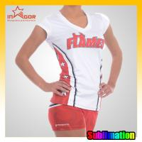 Buy cheap Brilliant colors Polyester / Spandex Cheerleading Sportswear Quick Dry from wholesalers