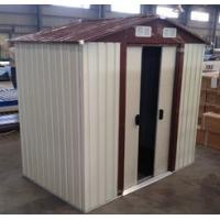 Buy cheap 10x12' Prefab Apex Metal Garden Storage Shed With Sliding Door from wholesalers