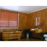 Buy cheap Wooden Laminated Decorative Ceiling Panels , Recyclable Pvc Wall Covering 250*8mm from wholesalers