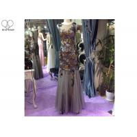 Buy cheap Floor Length Long Sequin Mermaid Dress Sleeveless Special Color Tulle Fabric from wholesalers