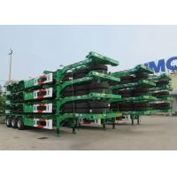 Buy cheap CIMC 40 ft skeletal container trailer 20 ft container transport truck trailer for sale from wholesalers