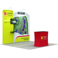 Buy cheap 10ft portable trade show exhibition advertising reusable tension fabric booth from wholesalers