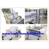 Buy cheap Tissue Paper Napkin Making Machine With Embossing And Folding Process from wholesalers