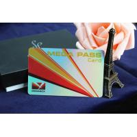 Buy cheap New style plastic pvc coated laser film business card from wholesalers