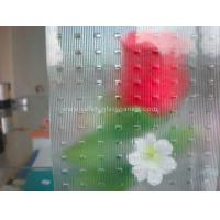 Buy cheap Flora Oval Patterned Louver Glass 10mm 12mm for Furniture / Show Shelves from wholesalers