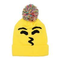 China Emoji Beanie Knit Cap Hat - One Size Fits Most - NEON Colors - 4 Different Styles on sale
