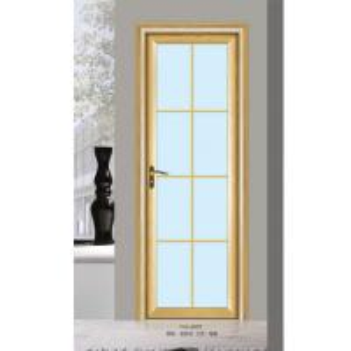 Silver aluminium glass doors office tempered interior for Glass office doors interior