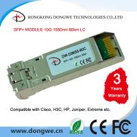 Buy cheap SFP+ZR Transceiver 10G SFP+ 80km 1550nm from wholesalers