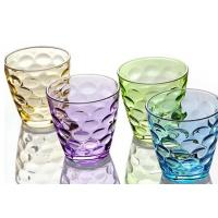 Buy cheap Stock Rain Drop Vintage Drinking Glasses , 260ml Colored Drinking Glasses from wholesalers