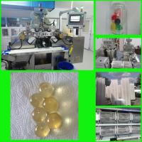 China 7 inch Canabis Oil Softgel Capsule Machine With Porous Stainless Steel Oil Roller on sale