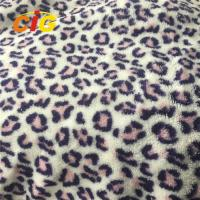 Buy cheap 100% Polyester Home Textile Fabric Leopard Printed Coral Fleece product