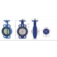 Buy cheap high temperature Stainless Steel  Wafer Type Headless Butterfly Valve With Back Seat from wholesalers