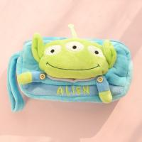 Buy cheap Stationery Toy Story 3 Alien Plush Pencil Case For Promotion , Blue / Yellow from wholesalers