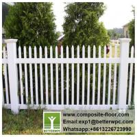 Buy cheap PVC Garden Railing Vinyl Fencing for Courtyard Decoration WPC Stair Railings Composite Rail Fence from wholesalers