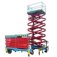 Buy cheap Hydraulic Self Propelled Work Platform , Window Cleaning Electric Scissor Lift from wholesalers