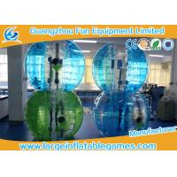 Buy cheap Blue Striped Color Inflatable Bubble Soccer Human Loopy Ball CE / UL Approved product
