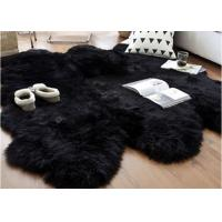 Buy cheap Australian Sheepskin Rug Sheepskin Collection Genuine Sheepskin Pelt Black Premium Shag Runner (4' x 6') from wholesalers