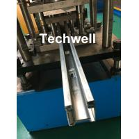 Buy cheap Custom Made Guide Rail Roll Forming Machine For Making Sliding System Devices With Hydraulic Punching from wholesalers
