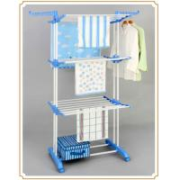 Buy cheap Extendable Steel Folding Clothes Rack Standing Shelves for Towels / Storage Box from wholesalers