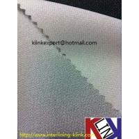 Buy cheap Polyester woven fusible interlining for garments from wholesalers