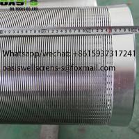 Buy cheap Deep Well Drilling Direct Slip Wire Wrapped Johnson Water Well Screens from wholesalers