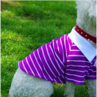 Buy cheap Sports purple Striped Pet Puppy Dog Cat Apparel Clothes Coat T Shirts Size XL L S from wholesalers