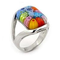 Buy cheap murano glass ring 1100161  from wholesalers